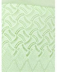 Ermanno Scervino - Green Open Knit Skirt - Lyst