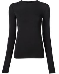 The Row | Black Long Sleeve T-shirt | Lyst