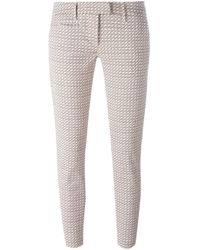 Dondup   Natural Printed Cropped Trousers   Lyst