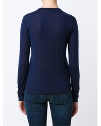 Ralph Lauren Collection - Blue Classic Sweater - Lyst