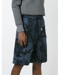 Neil Barrett - Black Patterned Camouflage Shorts for Men - Lyst