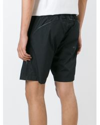 Hood By Air Black Active Zip Track Shorts for men