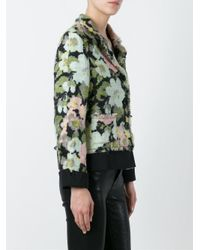 Moschino | Blue Woven Flower Print Jacket | Lyst