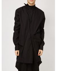 Moohong | Black Off Centre Fastening Shirt for Men | Lyst