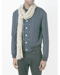 Fashion Clinic Timeless - Blue Square Printed Scarf for Men - Lyst