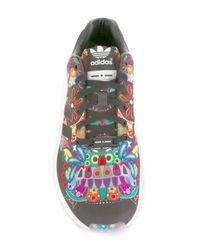 Adidas Originals - Black 'zx Flux' Sneakers for Men - Lyst