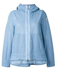 Moncler - Blue Broderie Anglaise Jacket - Lyst