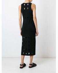 Rag & Bone - Black Perforated Dress - Lyst