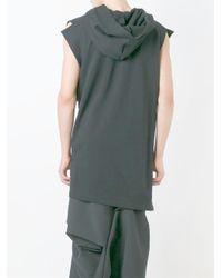 Moohong | Black Sleeveless Asymmetric Hoodie for Men | Lyst