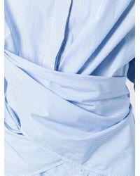 Ports 1961 - Blue Wrap-around Striped Shirt - Lyst