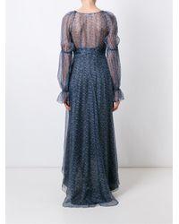 Philosophy Di Lorenzo Serafini | Blue Floral Print Dress | Lyst