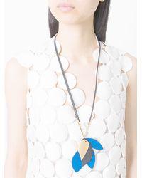 Marni - Blue Leaf Pendant Necklace - Lyst