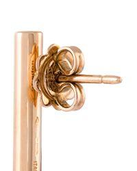Roberto Marroni | Metallic Solid Bar Diamond Earring | Lyst