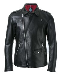 Guild Prime | Black - Asymmetric Zip Up Biker Jacket - Men - Lamb Skin - L for Men | Lyst