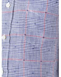 Canali | Blue Plaid Button Down Shirt for Men | Lyst