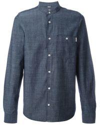 Carhartt   Blue Mandarin Collar Shirt for Men   Lyst