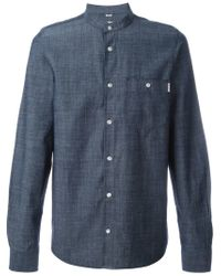 Carhartt | Blue Mandarin Collar Shirt for Men | Lyst