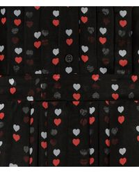 Christopher Kane - Black Love Heart Print Shirt Dress - Lyst