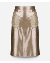 Christopher Kane - Blue Midi Skirt With Lace Pockets - Lyst