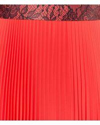 Christopher Kane - Black Long Pleated Skirt - Lyst