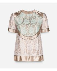 Christopher Kane - Multicolor Lace Fagotting Top - Lyst