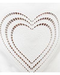 Christopher Kane - White Heart Knee Patch Boyfriend Jean - Lyst