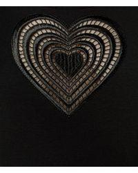 Christopher Kane - Black Tonal Heart T-shirt - Lyst