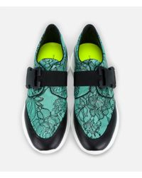 Christopher Kane - Blue Lace Print Safety Buckle Trainer - Lyst