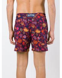 Vilebrequin - Blue Sketch Print Swim Shorts for Men - Lyst