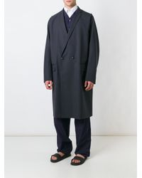 Kolor - Blue Double Breasted Coat for Men - Lyst