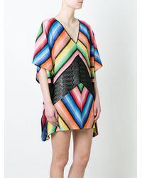 Missoni - Black V-neck Crochet Dress - Lyst