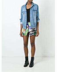 Filles A Papa - Black 'amnesia' Shorts - Lyst