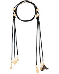 Chloé - Black 'janis' Tie Necklace - Lyst