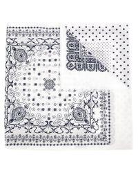 Engineered Garments - White Bandana Print Scarf for Men - Lyst