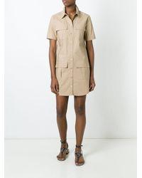 Equipment   Blue Patch Pocket Shirt Dress   Lyst