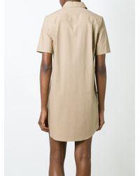 Equipment - Blue Patch Pocket Shirt Dress - Lyst