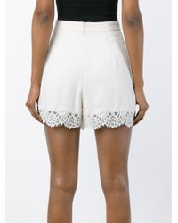 Zimmermann - White Lace Tuck Shorts - Lyst