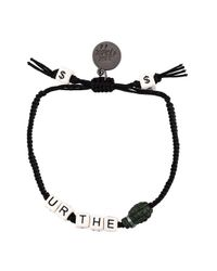 Venessa Arizaga | Black 'you're The Bomb' Bracelet | Lyst