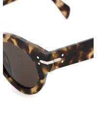 Céline - Brown Tortoiseshell Round Sunglasses - Lyst