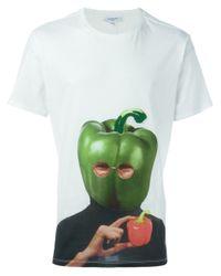 Les Benjamins - White Bell Pepper T-shirt for Men - Lyst