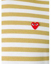 Play Comme des Garçons - Black Comme Des Garçons Play Mini Heart Striped T-shirt for Men - Lyst