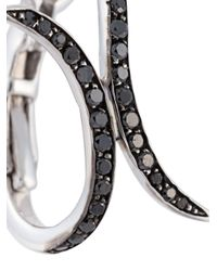 Christina Debs | Black Tattoo Motif Diamond Earrings | Lyst