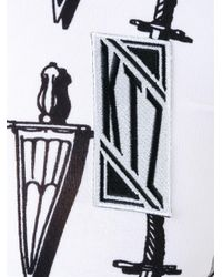 KTZ - Black Sword Print Crop Top - Lyst