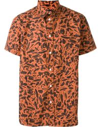 Paul Smith | Blue Brushstroke Print Shirt for Men | Lyst