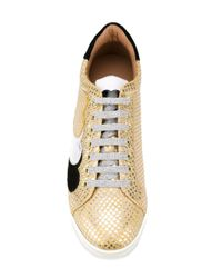 Twin Set - Metallic Lace-up Sneakers - Lyst