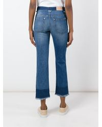See By Chloé - Blue Frayed Cropped Jeans - Lyst