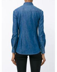 Dolce & Gabbana - Blue Denim Long Sleeved Shirt - Lyst