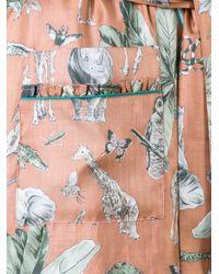 MUVEIL - Multicolor Floral Print Kimono Style Coat - Lyst