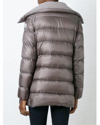Moncler | Gray Grey Down Flammette Coat | Lyst