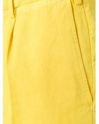 PT01 - Yellow Bermuda Shorts for Men - Lyst